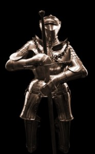 Ancient knight's armour