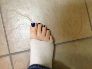 Yep, that's my foot.